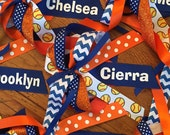 Custom Made Personalized Ponytail Streamers / cheer bow, ANY colors, with or without sports ribbon