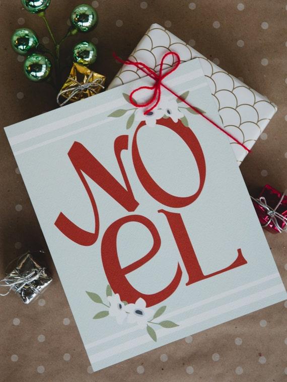 NOEL - 8x10 print