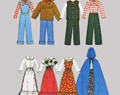 Barbie  Bicentennial Costumes Sewing Pattern McCalls 4716 Ken and Barbie 4 different sizes