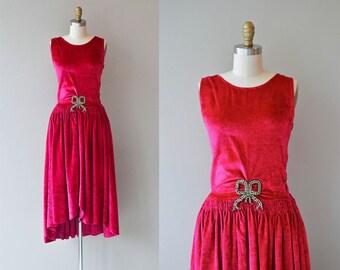 Bonjour Paris dress | 1920s silk velvet dress • vintage 20s dress