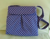 Navy Blue Bag Shoulder Pocketbook Purse Handbag
