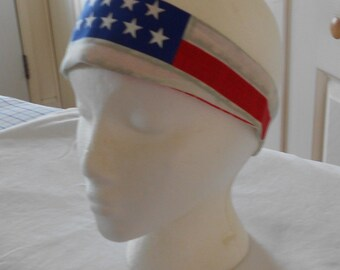 Patriotic Headband - America Colors - Red White Blue