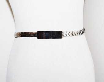 Silver Belt Vintage Stretch Metal