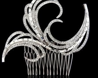 Art Deco wedding hair accessories crystal wedding comb bridal hair comb bridal hair accessories