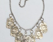 Coins in the Fountain Silver Statement Necklace- Ready to Ship