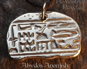 Abydos Anomaly - Pewter Pendant - Egyptian Helecopter hieroglyph, Alien UFO Jewelry,