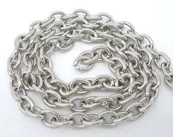 BULK - Heavy Antique Silver Chain - 15 feet - #CH04778