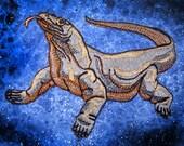 Komodo dragon Varanus komodoensis Iron On Patch