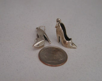 High Heel Pumps Sterling Silver Charm