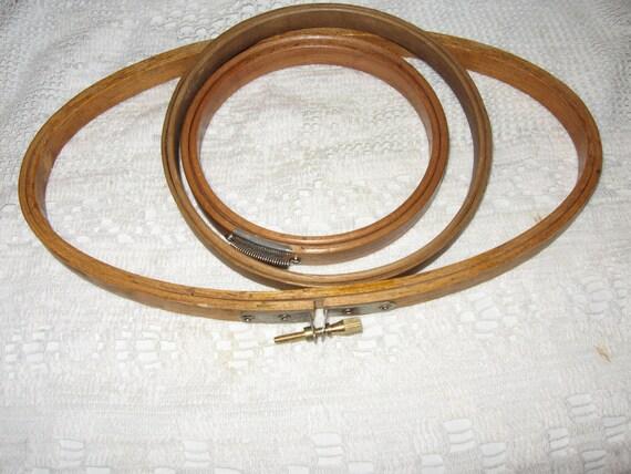 Vintage wood embroidery hoops