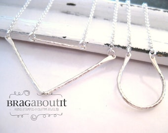 Silver Layering Necklace . Simple Necklace . Layering Necklace . Brag About It . Select Your Style