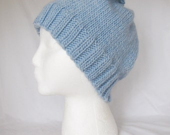Clounds - light blue organic knit cap
