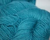 Studio June Yarn Star Struck Light Worsted - Merino/Silk/Nylon/Silver, Color:  Deep Aqua Teal
