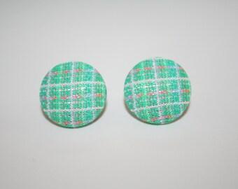 Handmade Button Covered Earrings