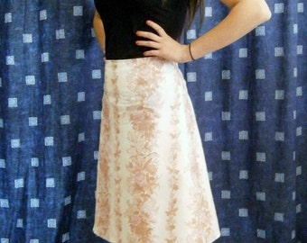 Vintage Fabric Fifties Inspired Half Circle Skirt AU sizes 12-14