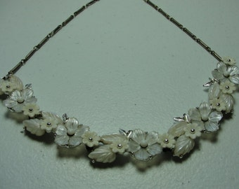 "Antique bridal necklace  16"" adjustable chain"