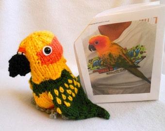 Parrot Hand Knitted Custom Made to Look Like Owner's Pet Bird, Stuffed Bird, Avian, Hand Knitted Bird, Pet Memorial