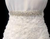 Bridal Rhinestone Thin Sash Crystal Beaded Sashes  Wedding  Belt Rhinestone Aplique