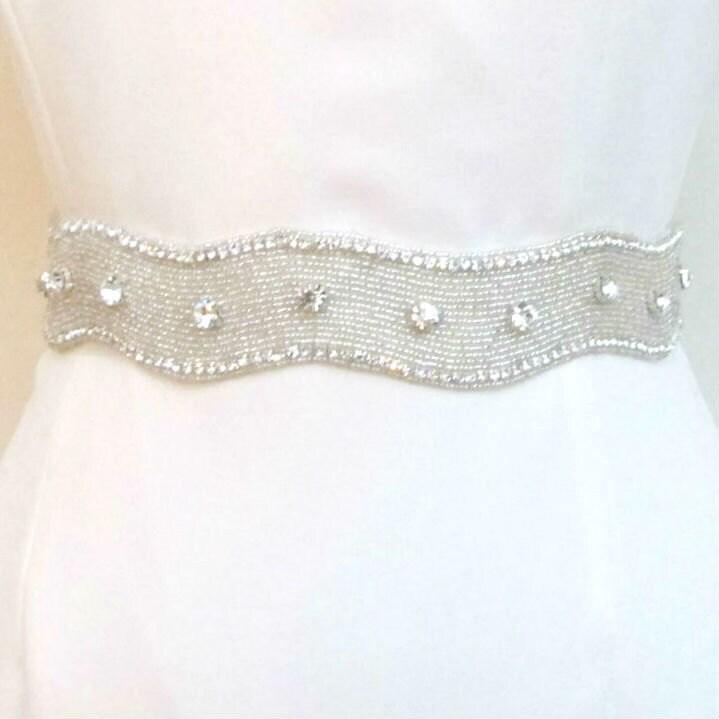 bridal rhinestone belts beaded wedding sash by