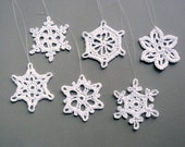 Reserved listing: 6 small snowflakes