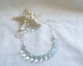 Pale Blue Quartz Briolette Necklace and Earrings