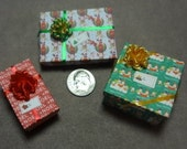 Three Mini Gift Boxes for you to Fill - set 78