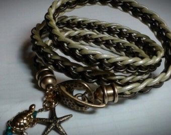 Kumihimo leather braid