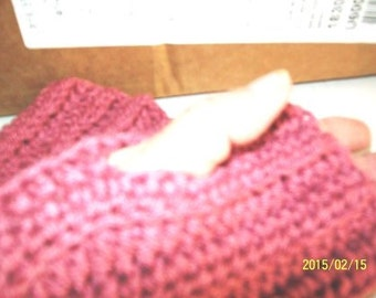 Fingerless Texting Gloves and Wrist Warmers Dusty Rose Sm/Med