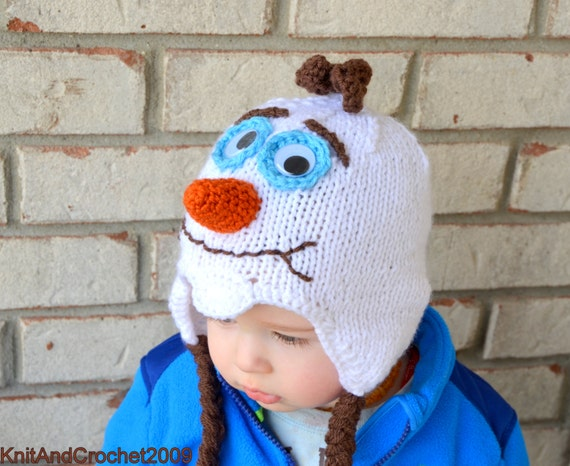 Knitting Pattern For Olaf From Frozen : Frozen Olaf Hat / I like Warm Hugs / Olaf Beanie / Do you want