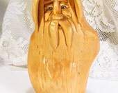 Original artist woodcarving wood Santa Joseph Connors new 2014. Sold by the artist.