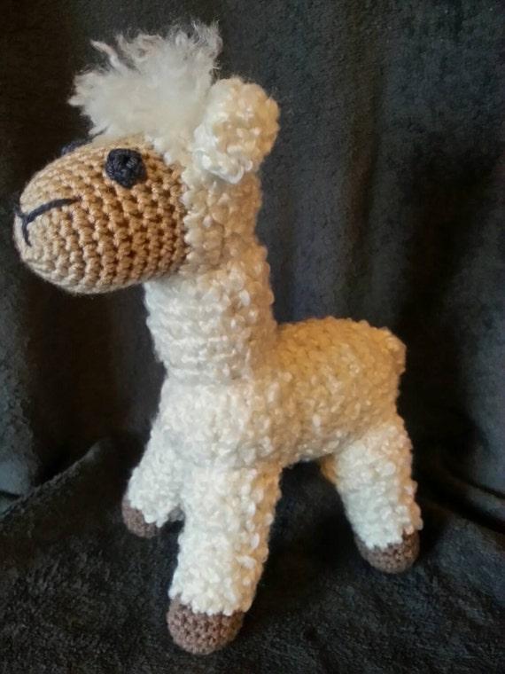 Crochet Amigurumi Llama : Crochet stuffed alpaca llama amigurumi crysbritescloset