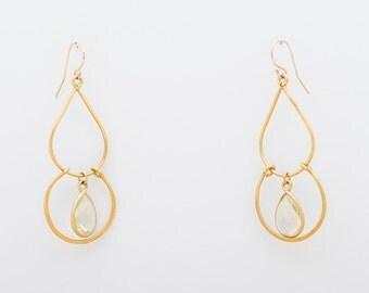 Lemon Quartz Chandelier earrings