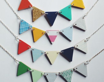 Bunting Necklace - Inca, Candy, Regatta or Birch
