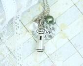 Lighthouse Necklace Sea Glass Jewelry Nautical Necklace Lighthouse Jewelry Sea Glass Necklace Beach Jewelry