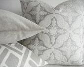 NEW-Waverly Williamsburg Collection - Neutral Damask Medallions -Decorative Designer Pillow Cover-Taupe-Cream-Ivory Throw /Lumbar Pillows