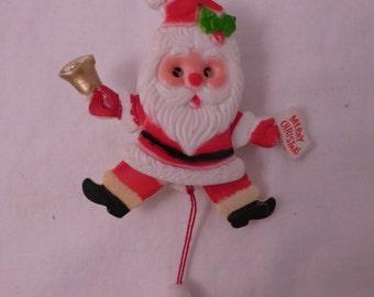 Sweet Little Vintage Santa Mechanical Pin