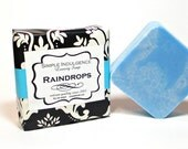 Raindrops Scented Soap, enriched with shea butter, Simple Indulgence, soft water scent