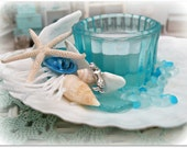 Mermaid Scallop Shell & Starfish Tealight Holder