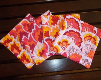 Fabric Coasters Set of 4 Boho Chic Amy Butler