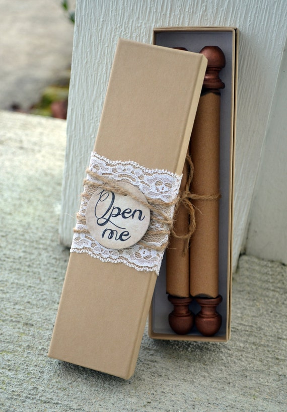 Items similar to Scroll Wedding Invitation Custom ...