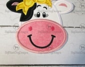 Girl or Boy cow - Iron On or Sew On Embroidered Applique