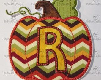 Iron On Applique - Pumpkin Alphabet NEW Sizes and NEW Design