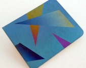 1980s Niobium Brooch Pin Back Blue Purple Gold Pink Orange Like Titanium Modern