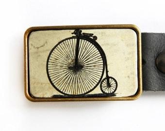 Penny Farthing Bicycle Vintage Belt Buckle