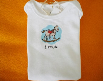I Rock Baby Bodysuit (sizes newborn to 24 months)