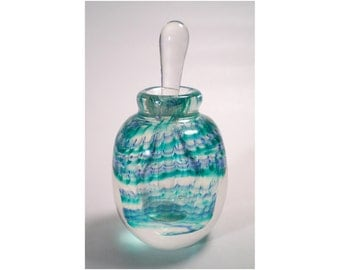 Hand Blown Art Glass Perfume Bottle (Item W 21)