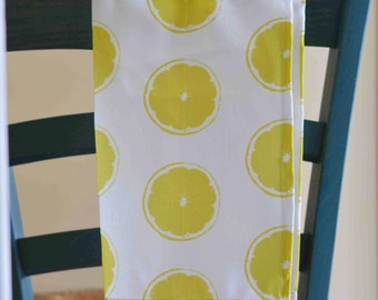 Limes kitchen tea towel, yellow lemon towel citrus fruit towel lemon kitchen decor lemon tea towel kitchen accessory citrus kitchen towel