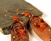 Copper Jewelry, Copper Earrings, Bohemian Jewelry