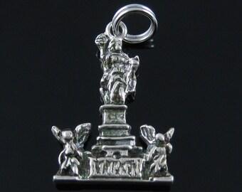 Charm, Sterling Silver, Statue, Niederwald, Rudesheim, Angel Charm