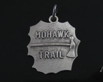 Vintage Sterling Silver Mohawk Trail Tomahawk Charm - Massachusetts MA